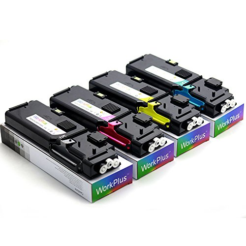 WorkPlus Compatible Laser Toner Cartridges Replacement High Yield for Dell C2660dn C2665dnf Printers (CMYK 4pcs)
