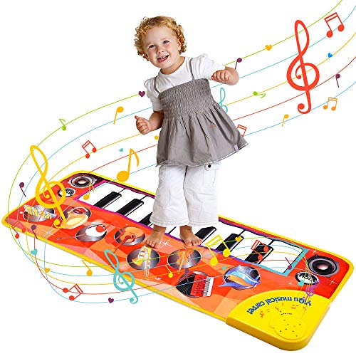Music Piano Toys for Toddlers Baby 1-3, TOP TOY Piano Mat Dance Mat Play Mat for Kids Baby Piano Keyboard Mat Musical Toys for Babies 3 -12 Months Best Toys Gifts for 1-3 year old Girl Boy YYD02