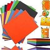LeonBach Filzbögen, 3 mm dick, 8 verschiedene Farben, Bastelfilz, steife Filzbögen, Filzbögen,...