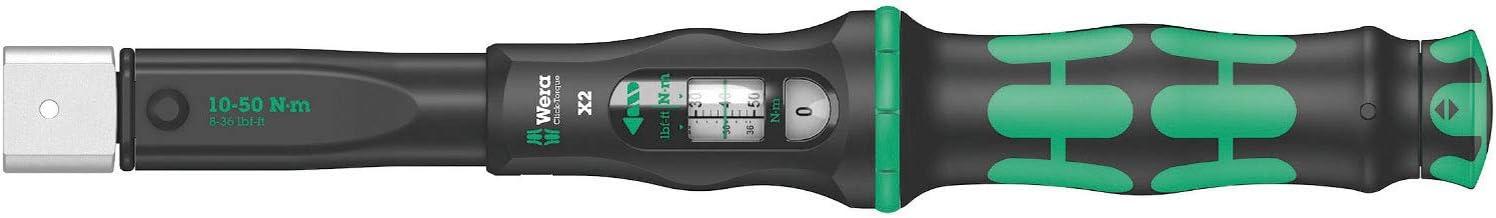 Wera '05075652001 Click-Torque X 2 momentnycklar för insticksverktyg, 9 x 12 x 10–50 Nm