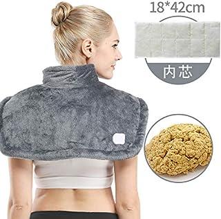 Sooger 電熱の肩 手痛い ホットバッグ 電気を加熱する 電熱のストール 首の肩の背部暖房パッド マッサージのヒートラップの熱くするショールの減圧のための調節可能な強度フルボディマッサージ 電気を温める 肩を暖める 背中を守る