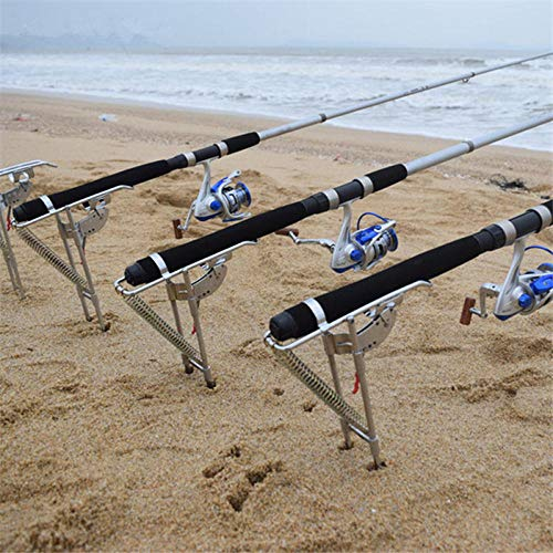 BEPM Angeln Rod Pod Rutenhalter Stellfischrutenhalter 1 Stück Automatische Angelrutenhalterung Angelrutenhalterung Hochfester Stahl Angelrutenhalter Stand Angelrutenzubehör