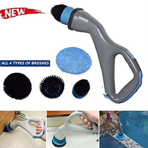 CRZJ Power Scrubber Brush, Elektrische Reinigungsbürste Handheld Cordless Spin Scrubber - Allzweck-Küchengeschirrpfanne Bad Badewanne Fliesen Fenster Auto-Reinigungswerkzeug-Set