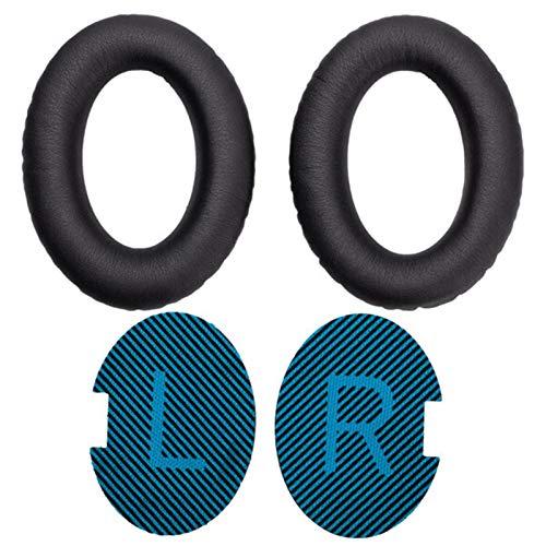Almohadillas para los oídos Cojines de espuma de espuma de espuma de proteína de reemplazo Cojines for Bose for QuietComfort 2 QC25 AE2 QC2 QC15 AE2I Auriculares Reemplace las almohadillas para los oí