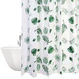 Cortina de ducha impermeable, antimoho, 180 x 200 cm, lavable, antibacteriana, cortina de ducha con 12 cortinas de ducha
