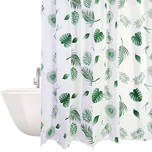 Tenda da doccia impermeabile, antimuffa, 180 x 200 cm, lavabile, antibatterica, con 12 anelli per...