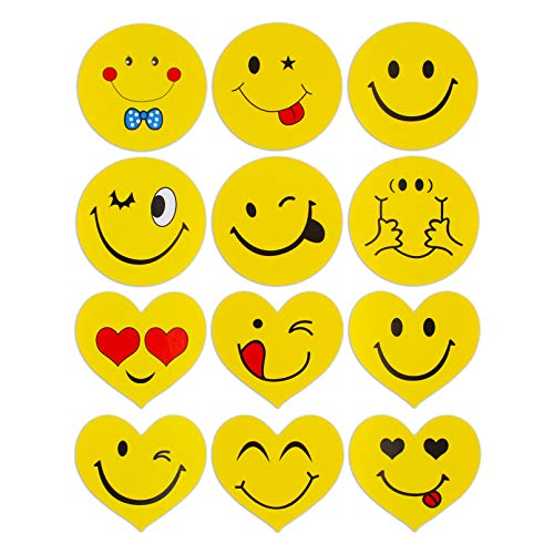 """Emoji Stickers, 1"""" Smiley Face Stickers Perfect Teachers Stickers for Class, Party, Reward,Happy Face Stickers(450pcs)"""