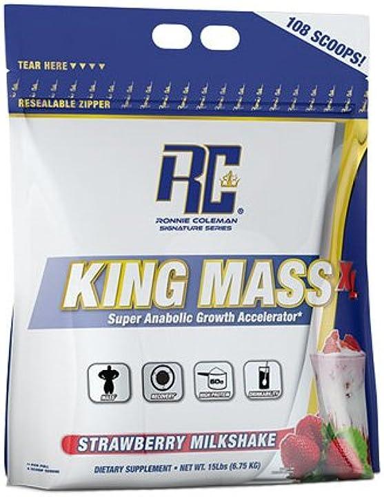 Proteine in polvere ronnie coleman signature series supplemento king gainer di massa, chocolate - 6,8kg 9007C