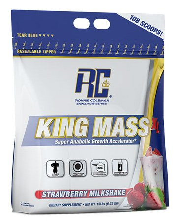 Ronnie Coleman Signature Series King Mass Gainer Supplement, Strawberry
