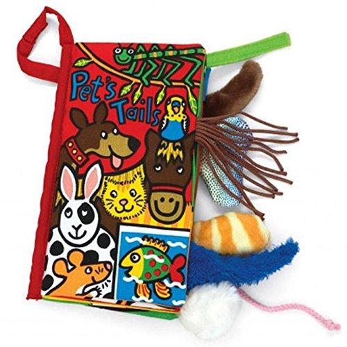 Tonsee Livre de tissu de livres de jouets de bébé de tissu de queues d'animal (E)