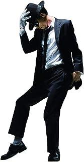 Space Dance Cos Adecuado para fanáticos de Michael Jackso Kid Adulto Traje de Cosplay 6pcs Michael Jackso Traje Peligroso Chaqueta + Pantalones + Camisa Blanca + Sombrero + Tie + Guantes(Right