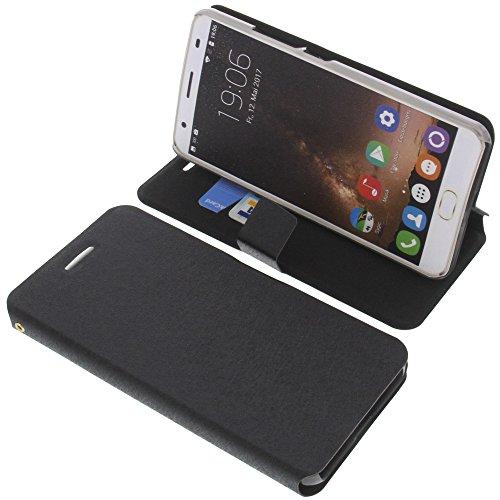 foto-kontor Tasche für Oukitel K6000 Plus Book Style schwarz Kreditkarte Schutz Hülle Buch
