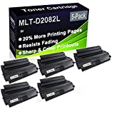 Paquete de 5 cartuchos de impresora compatibles con MLT-D2082L de alto rendimiento para Samsung SCX-5635FN SCX-5835FN