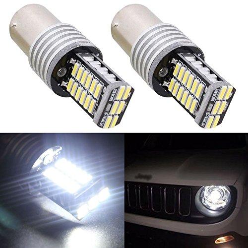 TABEN Super Brillant 1157 P21/5W BAY15D 1196 7528 Ampoules LED CanBus sans Erreur 30SMD 4014 LED Feux de recul arrière de Secours Feux de stationnement Ampoules LED DC 12V Blanc (Pack de 2)
