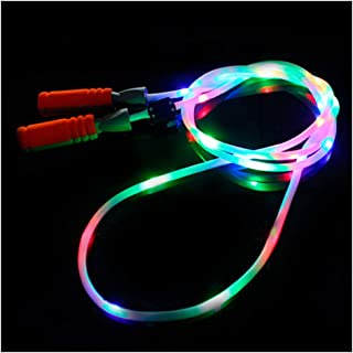 Jump Rope Light-Up LED Flashing~Suction Cup Handles~Green {7-Feet} ~Free Ship!!