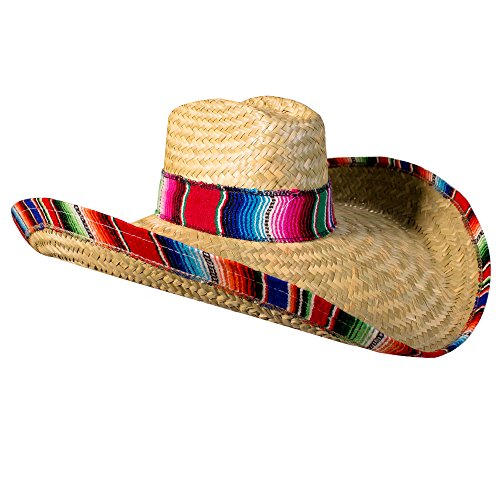 Windy City Novelties Sombrero Hat for Adults 22' Inch Authentic Made in Mexico