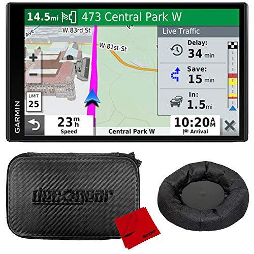 Garmin DriveSmart 65 & Traffic 6.95' Display GPS Navigator with Case and Mount Bundle