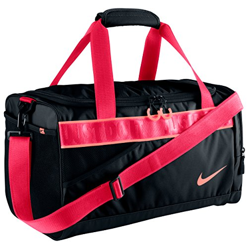 Nike, Borsa Sportiva Donna Varsity, Nero (Black/Atomic Pink), 45.5 x 33 x 15 cm, 22 l