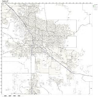 Working Maps Tucson, AZ Zip Code Map Laminated