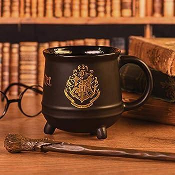 "Pyramid International"" Harry Potter (Hogwarts Crest) Cauldron - Taza de café (cerámica, 21 x 29 x 1,3 cm), diseño de calavera, multicolor"