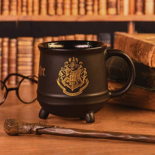 Pyramid International' Harry Potter (Hogwarts Crest) Cauldron - Taza de café (cerámica, 21 x 29 x 1,3 cm), diseño de calavera, multicolor