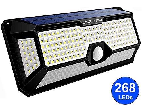 Solarlampen für Außen mit Bewegungsmelder - Neue Upgrade 268 LEDs Sloarleuchte, 4400mAh 2400LM, Wandleuchte mit 3 Modi, Solar Aussenleuchte Sensor kaltweiß,Wasserdicht