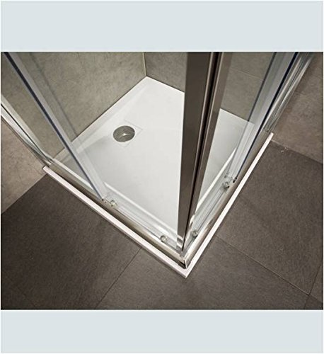 Mampara ducha de Cristal Mate templado de 6 mm - 2 lados apertura corredera angular (modelos rectangulares son reversibles - derecha o izquierda de la apertura) - Medidas: 70 x 90 cm, H 185 cm: Amazon.es: Hogar