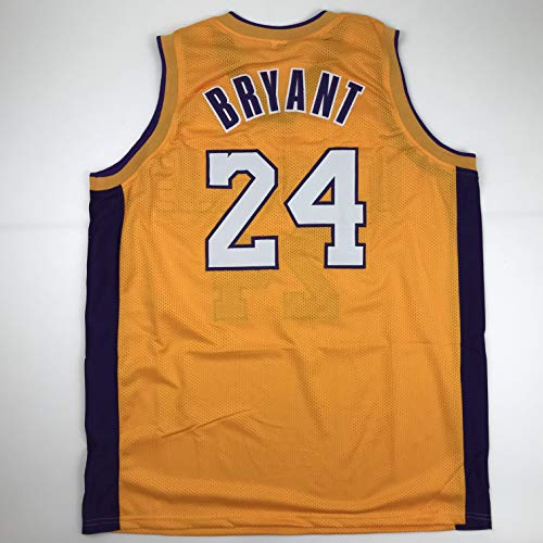 Unsigned Kobe Bryant #24 Los Angeles LA Yellow Custom Stitched Basketball Jersey Size Men's XL New No Brands/Logos