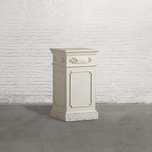 dialma brown - Capitello Realizzato In Legno Di Colore Bianco Anticato