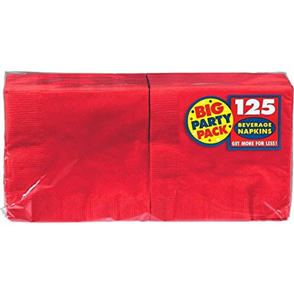 Apple Red Beverage Napkins Big Party Pack, 125 Ct.
