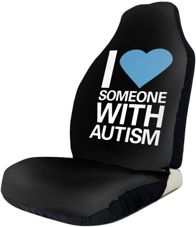POI78 Limited Special Price I Love Someone with Autism Sign Seat Auto Fashion Colorful Super special price