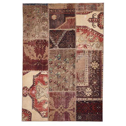 WEBTAPPETI.IT Alfombra de salón original Turquía con diseño de patchwork Oriente Old World Multi (200 x 290 cm)