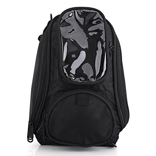 Universelle Motorradtasche, wasserdichter Oxford-Sattel, schwarzer magnetischer Tankrucksack Praktisches Design mit mehreren Taschen
