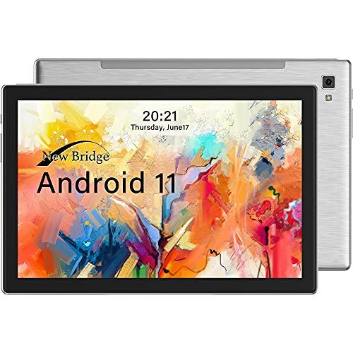 ニュー ブリッジ タブレット 10.1インチ 最新Android11 解像度1920*1200 オクタコアプロセッサー メモリー3GB+内蔵ストレージ64GB Bluetooth GPS リアカメラ約500万画素 オートフォーカス機能搭載 NBTB101 シルバー