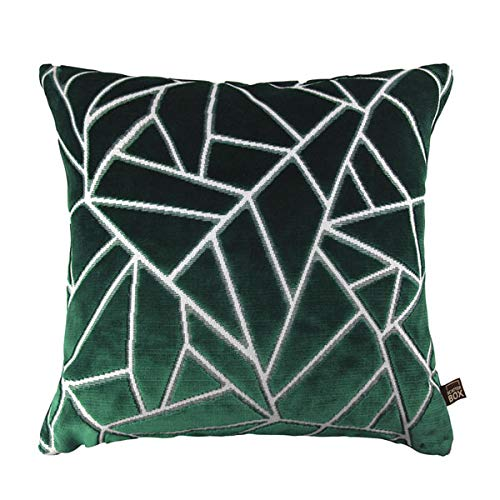 Scatter Box Veda Velour Feather Filled Cushion, Green, 43 x 43 Cm