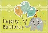 Geburtstagskarte für Kinder Lifestyle - Elefant