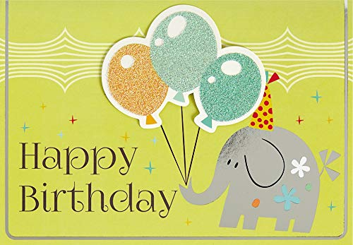 Geburtstagskarte für Kinder Lifestyle - Elefant - 11,6 x 16,6 cm