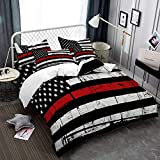 American Flag Duvet Cover King Size Independence Day Bedding Cover Colorful Red Black White Stripe Quilt Cover 3D Printed Zipper Closure Bedding 3 Piece Bed Set (NO Comforter)