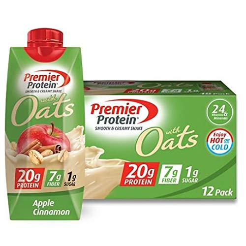 Premier Protein 20g Protein with Oats Shake, Apple Cinnamon