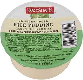 Kozy Shack Rice Pudding No Sugar Added, 4 Ounce -- 48 per case.