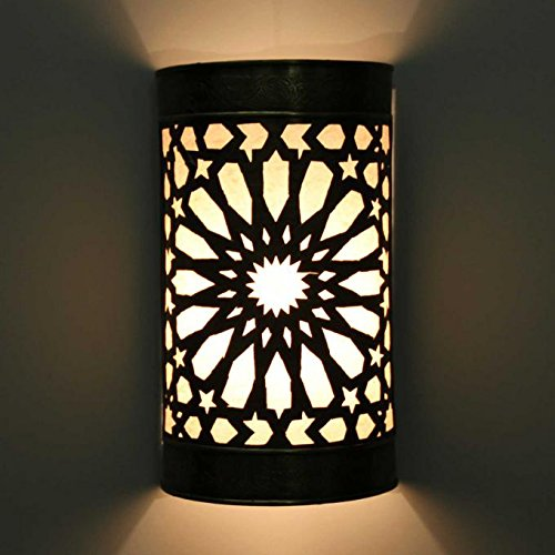 Casa Moro Orientalische Wandlampe Emina aus Messing 25x16 (HxB)   marokkanische Wandleuchte   Schöne Dekoration für Wand & Flur   Kunsthandwerk aus Marrakesch   L1845