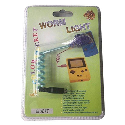 Wurmlicht Beleuchtung LED Lampen mit Verpackung für GBC Gameboy Color GBP Gameboy Pocket GBA Gameboy Advance Spielekonsole (für GBC GBP)
