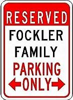金属サインフォーカスファミリー駐車場ノベルティスズストリートサイン