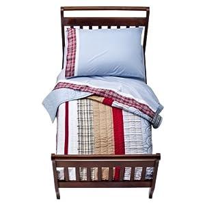 Bacati – Aidan Plaids and Stripes Boys 4 pieceToddler Bedding Set