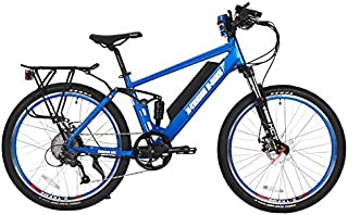 X-Treme Scooters - Rubicon Mountain Bicycle Electric Bicycle 48 Volt Lithium - Long Range Electric Bike (Metallic Blue)