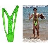Lime Green Borat Mankini Man Thong Stag Do Fancy Dress Costume Secret Santa Gift