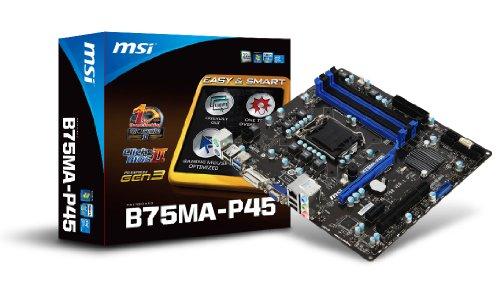 MSI LGA1155/Intel B75/DDR3/SATA3 USB 3.0/A&GbE/MicroATX Motherboard B75MA-P45
