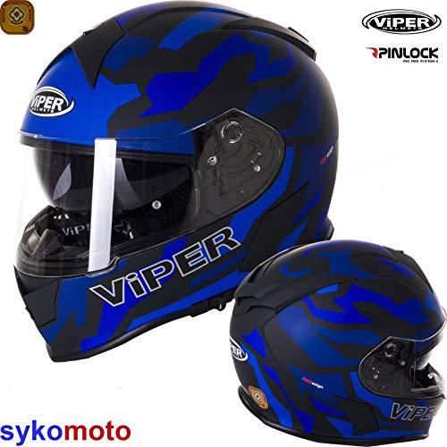 Viper Moto Casque Jet RS-V06 Target UJ Face Ouverte Vespa scotter Cruiser tourn/ée Casque Classique