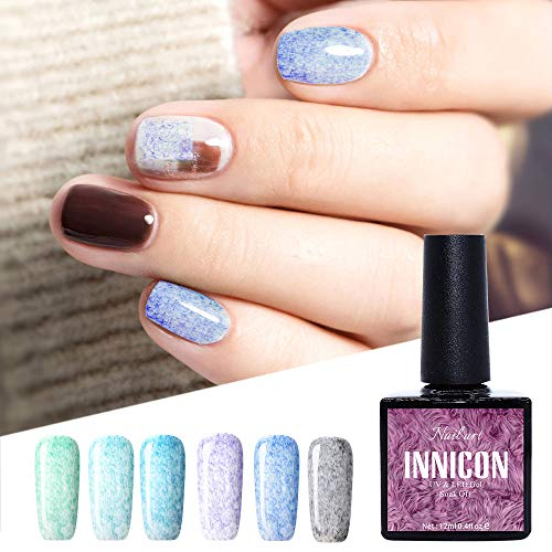 INNICON Fur Gel Polish Kits Nagelgel Polish UV LED Semipermanent voor Girls Do Nails Manicure thuis 12 ml 6 stuks in 1 set