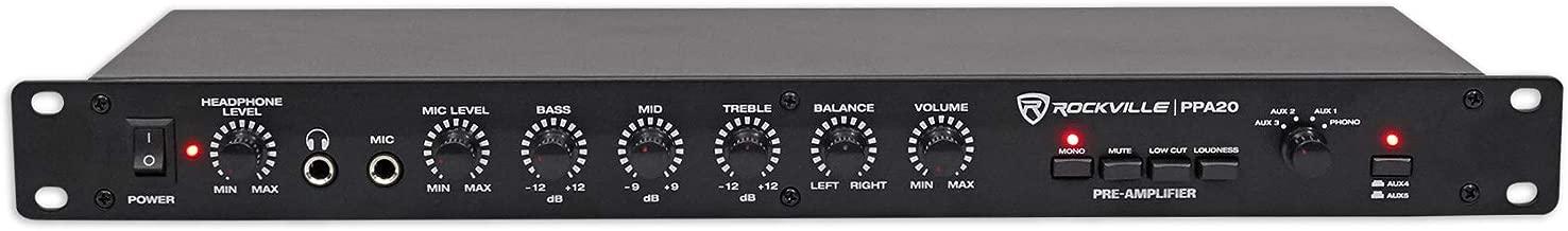 Rockville PPA20 Preamp Professional 1U Rack Mount Pre-Amplifier w/Crossover+EQ
